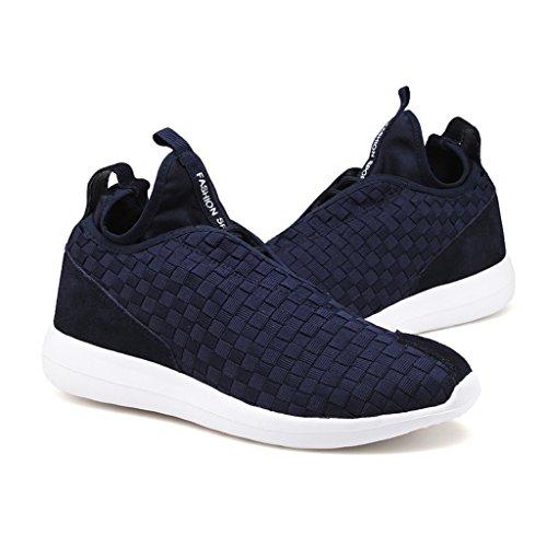 ZanYeing Scarpe sportive da uomo Scarpe da ginnastica traspiranti Tessitura di scarpe casual Scarpe da corsa leggere Scarpe estive Scarpe da ginnastica Blue