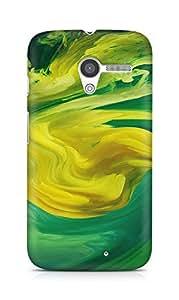 Amez designer printed 3d premium high quality back case cover for Motorola Moto X (Hurricane Swirl Abstract Art Paint Green Pattern)