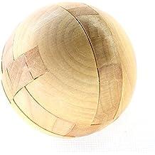 Zhomgo@ Kongming Luban bloqueo rompecabezas de madera # 8 juguetes de los niños juguetes educativos juguetes de madera de regalo Hot Toys capacidad 3D Juegos de Rubik Cubo puzzle de ejercicio de los niños a desafiar a su regalo perfecto para los niños el pensamiento lógico (Barriles Ming Lu Ban Lock)