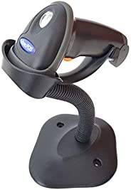 dmcPOS 2808 Laser Barcode Scanner, Autosense, USB with Stand (Black)