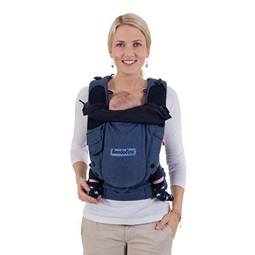 Hoppediz-Bondolino-Slim-Fit-Baby-Carrier-for-Front-And-Rucksack-Carrying-Blue-Melange