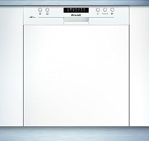 Lave-vaisselle Integrable - Brandt VH1505W Semi intégré 13places A++ Blanc