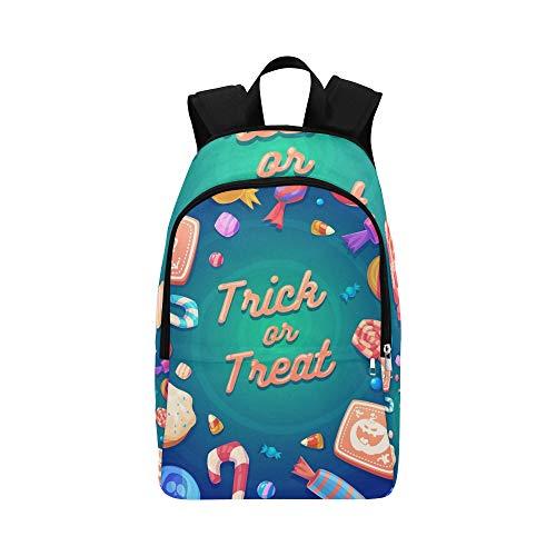 e Halloween Süßwaren Lässige Daypack Reisetasche College School Rucksack Für Herren und Frauen ()