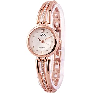 Aelo Rose Gold Analog Silver Dial Women's Watch - Www1040