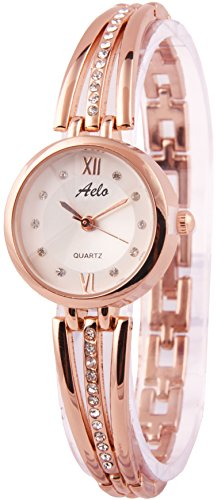Aelo Rose Gold Analog Silver Dial Women's Watch - Www1040