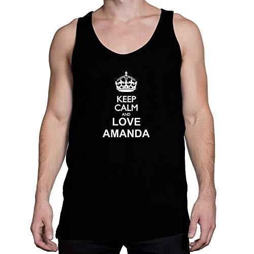 Amanda Tank Top (Idakoos Keep Calm and Love Amanda Tank Top M)