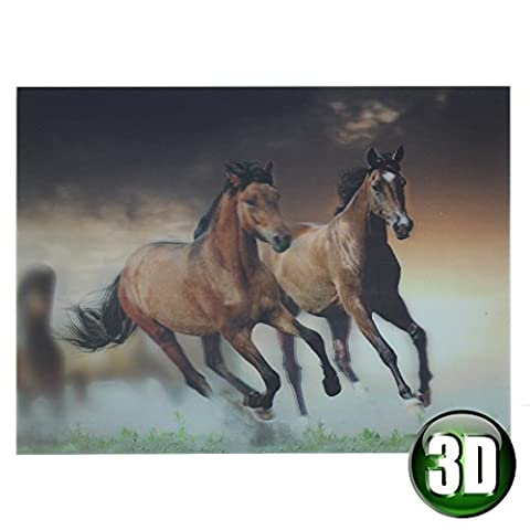 Wild Horses 3D Wall Art Picture hologram effect - Animal Planet