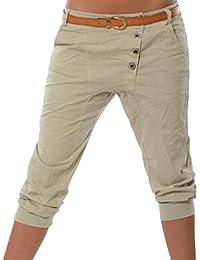 Juleya Femme Pantacourt Pantalons Courts 3/4 Sarouel Pantalons Eté Short Legging Casual Eté Confortable Chino Short Mode Grande taille S-5XL