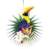 kingpo Decorazioni in Carta per Feste a Nido d'Ape Tucano 3 Pezzi per Feste