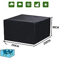 Diossad Cubierta de Protección para Muebles de Jardín Impermeable para Cubierta protectora de Mesas Negro 250 x 250 x 90cm