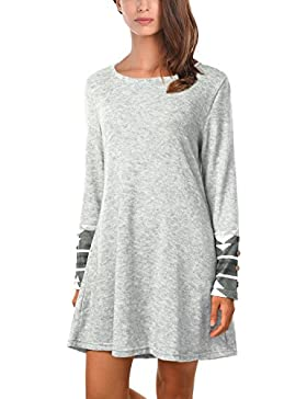 DJT Damen Pullover Herbst Basic Long Sleeve Strick Pullover Sweater