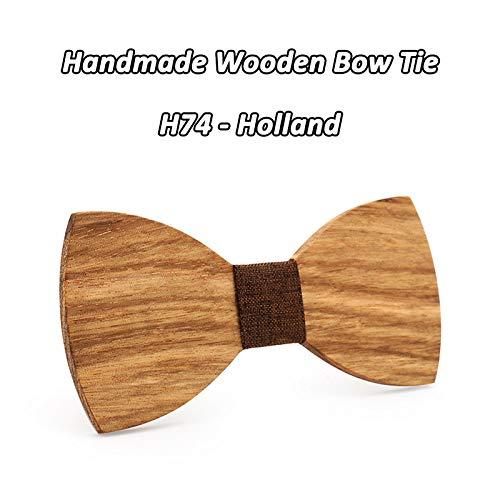 ZHENZHIA Westliche Hochzeitsdekoration Wooden Bow Tie Butterfly Men Tie Fun Personality Bowtie