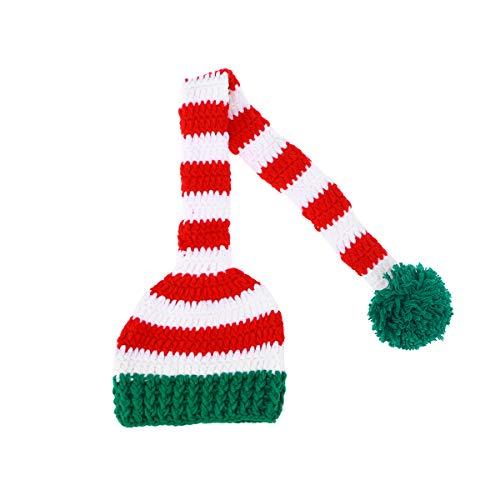 BESTOYARD Chritmas Neugeborenen Hut häkeln Stricken Langen Schwanz Weihnachten Hut Foto Prop für Baby Infant - Lange Stricken Hut