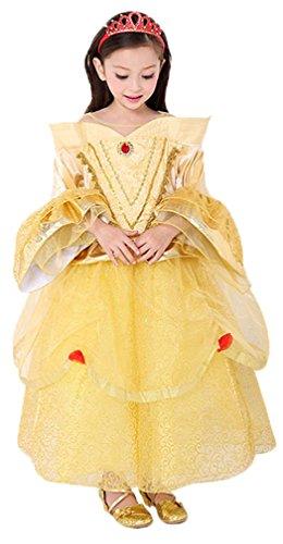 Belle Ballkleid Kostüm - Eyekepper Belle Prinzessin Kleid Geburtstagsparty Kleid Ballkleid Kostüm 110cm