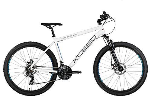 KS Cycling Unisex- Erwachsene Mountainbike Xceed Weiß, 48 cm