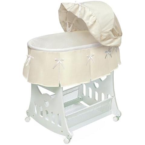 Badger Basket 00633 Crudo Waffle plisado cuna mois-s port-til N Con Toybox Base