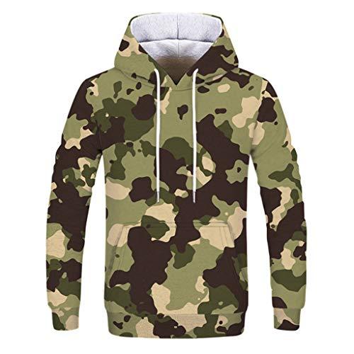Pullover Für Paare, Kapuzenpulli Langärmlig T-Shirt Resplend Camouflage Lange Ärmel Sweatshirt Hoodie Lässige Kapuzenpullover Mit 3D-Print