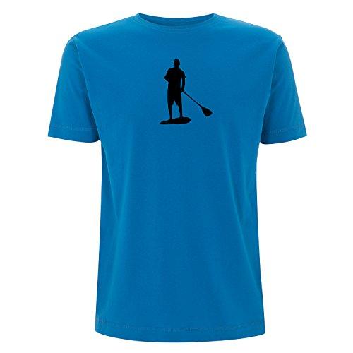 Stand up Paddling, SUP T-shirt mit ÖKO TEX 100 Druck Electric Blue S