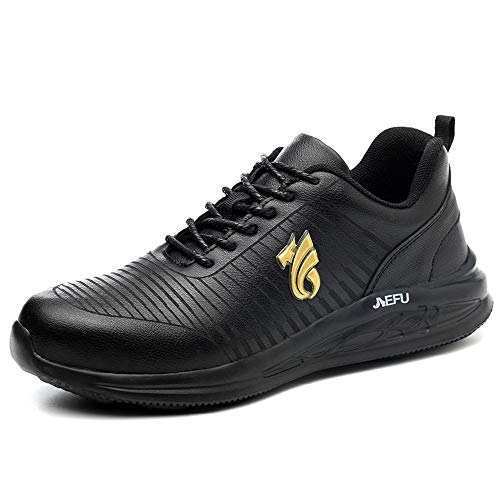 Willsky Scarpe Antinfortunistiche da Uomo, Scarpe da Lavoro Impermeabili Scarpe da Ginnastica Protettive Leggere di Sicurezza Sneakers Industriali Traspiranti Anti-Piercing,43