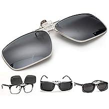 ElementsActive Gafas de sol polarizadas de borde metálico con función de volteo para hombre ...