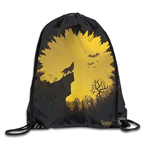 gthytjhv Rucksack mit Kordelzug Bag Happy Halloween Rucksack for Gym Travel Color 03 Lightweight Unique 16.9x14.2