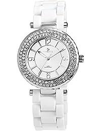 Reloj analógico Timento, plástico, diámetro 40 mm, colour blanco y plateado - 510022500021