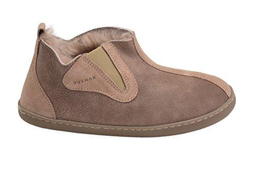 Hommes Femmes Luxe Peau De Mouton Pantoufles Chaussons Chaussures Avec Doublure Chaud Laine