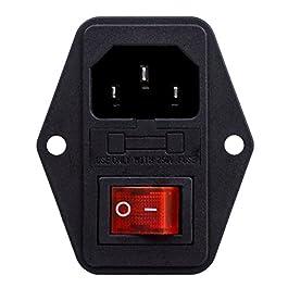 REFURBISHHOUSE 3 pin IEC320 C14 Inlet modulo spina con fusibile Interruttore maschio Presa di alimentazione 10A 250V