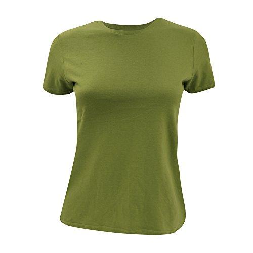B&C T-Shirt für Damen, kurzarm Moosgrün