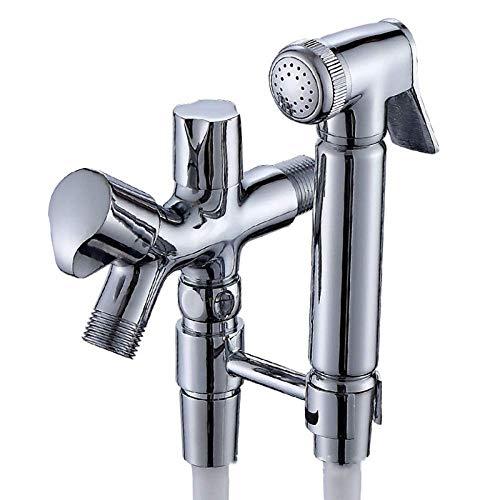 CHOME Toilettenreinigungs-Spritzpistole, Kupfer-Druckerhöhungs-Spritzpistolen-Körperwäscher, der Bidet-Druckerhöhungsdüse spült, für die saubere Badezimmerhygiene