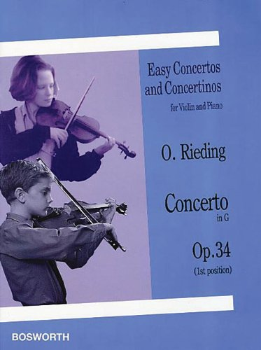 Concerto in G, Op. 34: Easy Concertos and Concertinos Series for Violin and Piano (Easy Concertos and Concertinos for Violin and Piano)