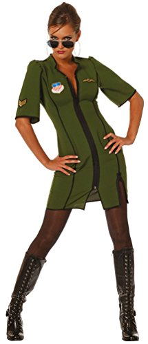 Karneval-Klamotten Piloten Kostüm Damen Pilotin Kostüm Damen Sexy Pilotin Kleid Karneval Damen-Kostüm Größe 40