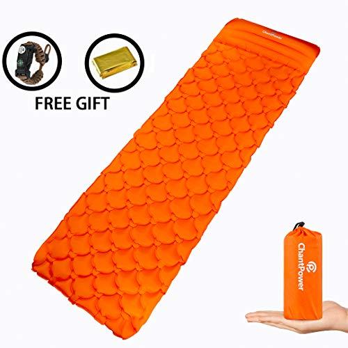 Chantpower materassino materassini autogonfianti – materassino materassini autogonfianti da campeggio, viaggia con un materassino super confortevole a cellule ad aria e cuscino integrato