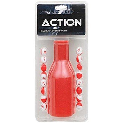 CueStix International Pillenflaschen-Set, Kunststoff, Rot -
