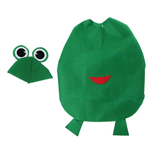 üm Verkleidung mit Kopfbedeckung für Karneval Fasching Halloween in verschiednenen Motiv - Frosch ()