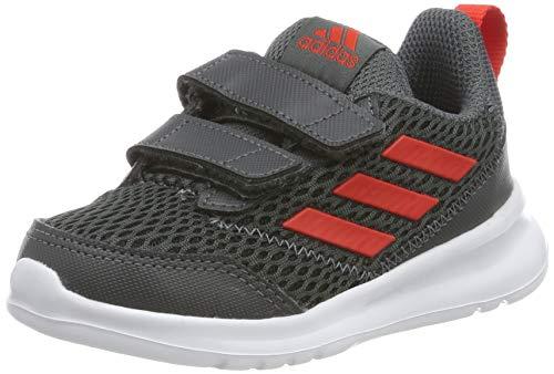 adidas Unisex Baby Altarun CF I Gymnastikschuhe, Grau (Grey Six/Active Red/Grey Six Grey Six/Active Red/Grey Six), 21 EU