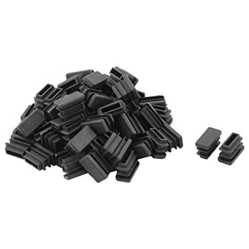 Sourcingmap® Table en Plastique Jambe Pieds Chaise Tube Tuyau Insérer Embout Noir 20 mm x 10 mm 60 PCS