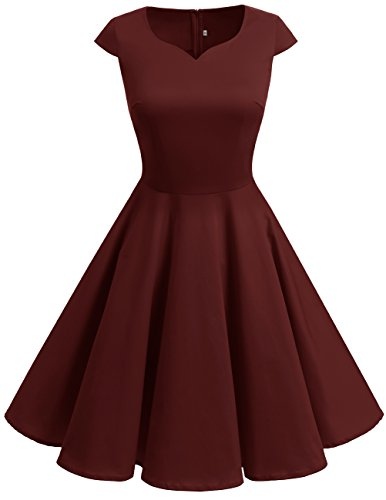 Dresstells Vintage 50er Swing Party kleider Cap Sleeves Rockabilly ...