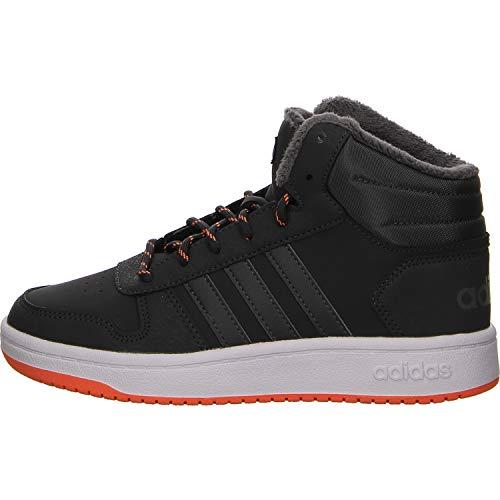 adidas Unisex-Kinder Hoops Mid 2.0 Basketballschuhe Grau Carbon/Grefiv/Hireor, 40 EU