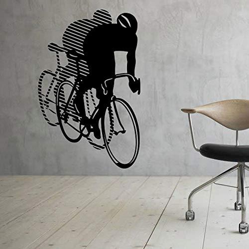 Fahrrad & Umgekehrtes Bild Wandtattoo Wand Vinyl Aufkleber Sport Bike Home Interior Junge Teen Schlafzimmer Dekor 42X65CM -