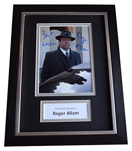 Sportagraphs Roger Allam Signed A4 Framed Autograph Photo Display Endeavour TV COA