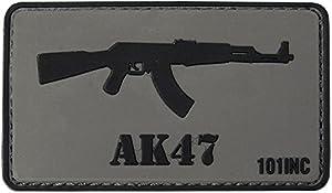 Ecusson / Patch 3d Pvc Velcro Fusil D'assaut Ak47 101 Inc Gris Et Noir Airsoft Kza-e746/4441303763
