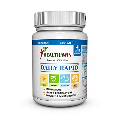 Healthawin Daily Rapid with Multivitamin, Multi Mineral, Omega 3, Antioxidants, Pure Natural Extracts & Probiotics – 60 Days Supply