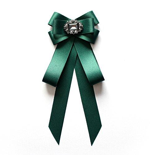 KlaPe Donna Cravatta A Farfalla Retro Britannico Stile College Fiocco Colletto Uomo E Donna Universali Camicia Accessori Selvatici Moda,Green