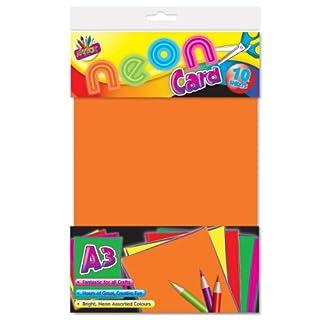 A3Artbox Paket von 10Karten Neon-Farben sortiert