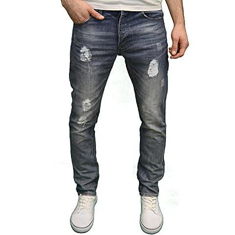 Enzo - Jeans - Homme bleu Mid Stonewash - bleu - W28