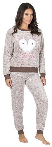 f4934663e0 Ladies Fleece Snuggle Pyjamas Animal Star Heart Christmas Winter ...
