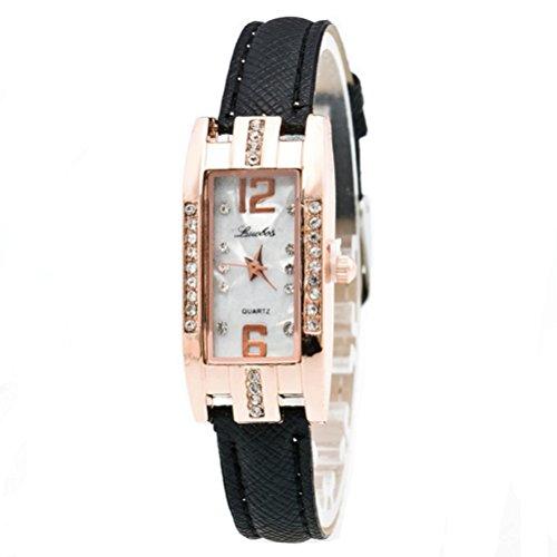 Xinantime Relojes Mujer,Xinan Reloj de Pulsera Cuarzo de Las Mujeres Moda (Negro)