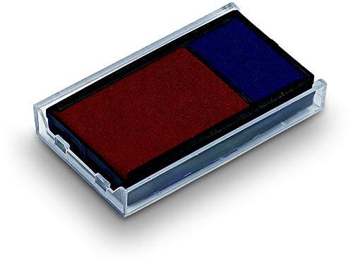 Trodat 6% 2F4912% 2F2% 2FBlue rosso-Set di 2 tamponi di inchiostro di ricambio per modelli Office Printy