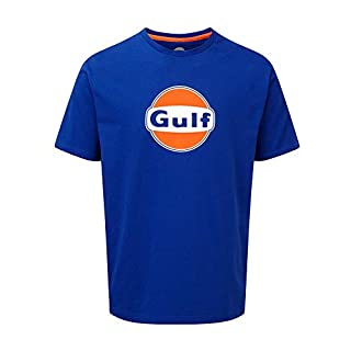 Gulf Racing Motorsport Team Mens Blue T-Shirt Tee Le Mans Sizes XS-XXXL
